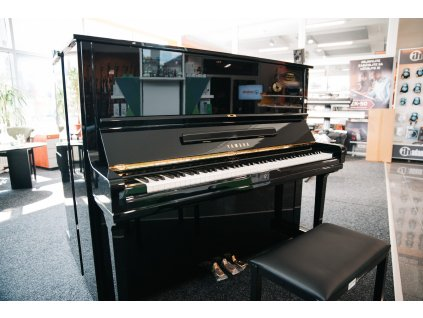 Yamaha U3H Piano used, Black Polished