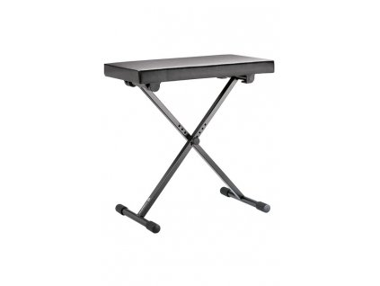K&M 14065 Keyboard bench black leather