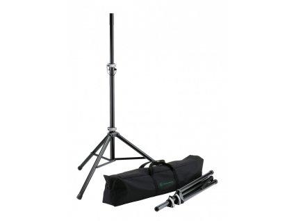 K&M 21459 Speaker stand package black