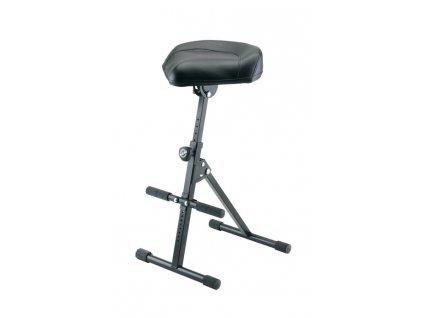 K&M 14047 Pneumatic stool black leather