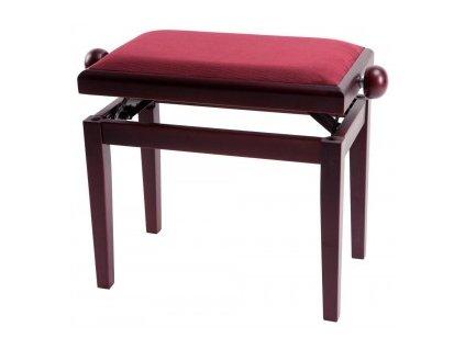 GEWA Piano bench GEWA Piano Deluxe Mahogany highgloss Bordeaux cover