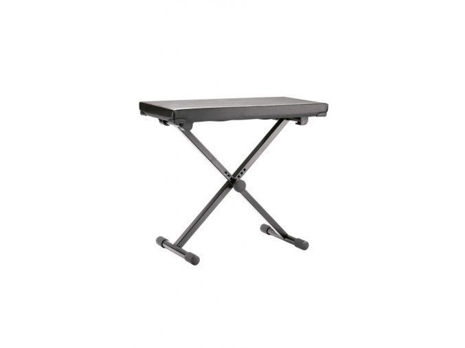 K&M 14075 Keyboard bench black leather