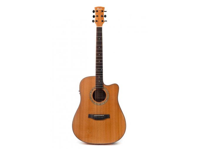KLEMA dreadnought-solid spruce top-electronics