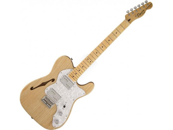 Squier Vintage Modified '72 Tele Thinline, Maple Fingerboard, Natural