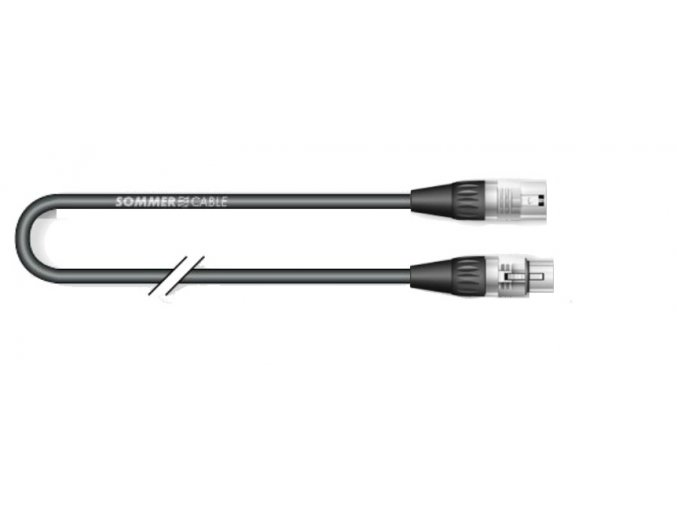 Sommer Cable MQHV; XLR / XLR; 3m; Ŕierna