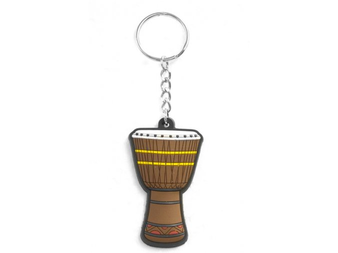 Musician Designer Music Key Chain African Drum Brown