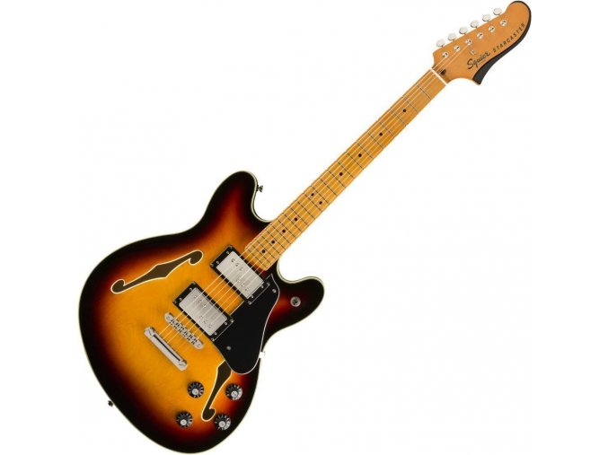 Squier Classic Vibe Starcaster, Maple Fingerbaord, 3 Color Sunburst 1