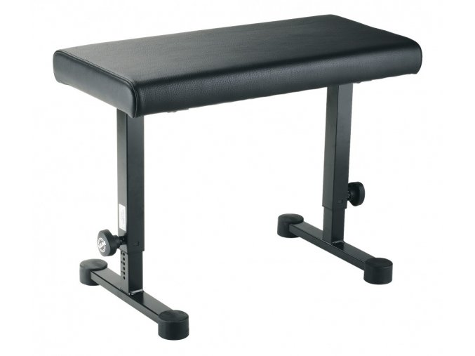K&M 14085 Piano bench black leather