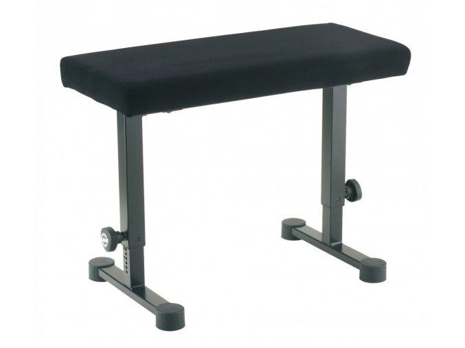 K&M 14086 Piano bench black fabric