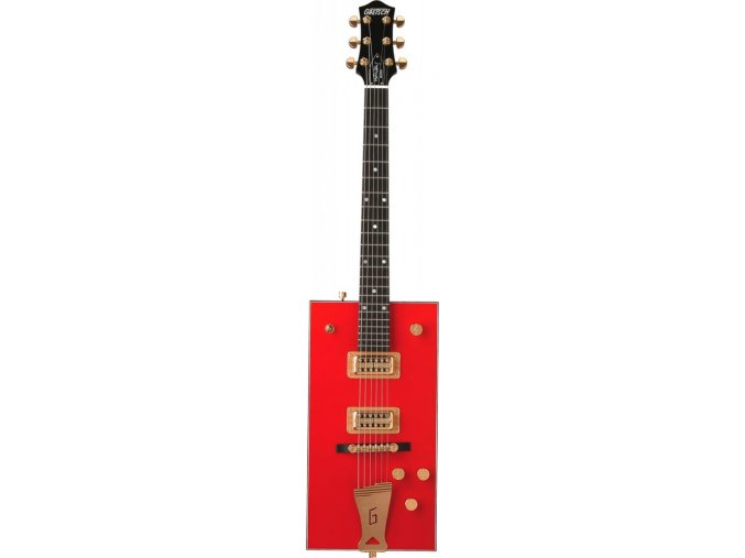 "Gretsch G6138 Bo Diddley, ""G"" Cutout Tailpiece, Ebony Fingerboard, Firebird Red"