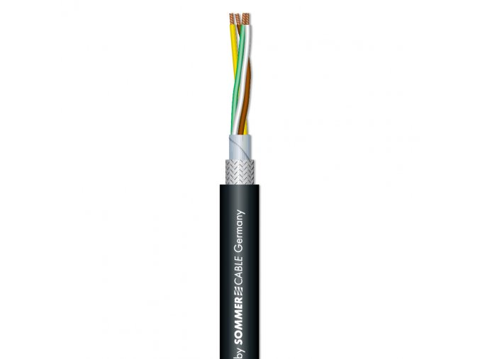 SOMMER BINARY 434 DMX-Kabel 4-adrig/ sw