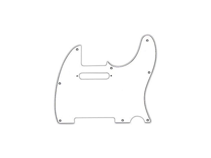 Fender Pickguard, Telecaster, 8-Hole Mount, White, 3-Ply