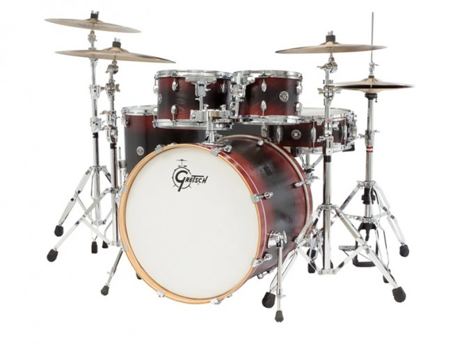 Gretsch Shellpack Catalina Ash 10/12/16/22/14SD Red/Black/Red Burst
