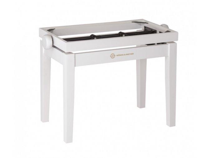 K&M 13710 Piano bench - wooden-frame white matt finish