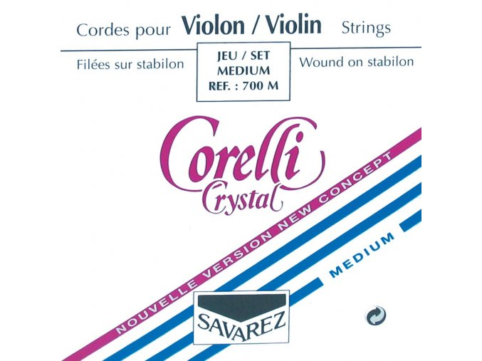 Corelli Strings For Violin Crystal Medium