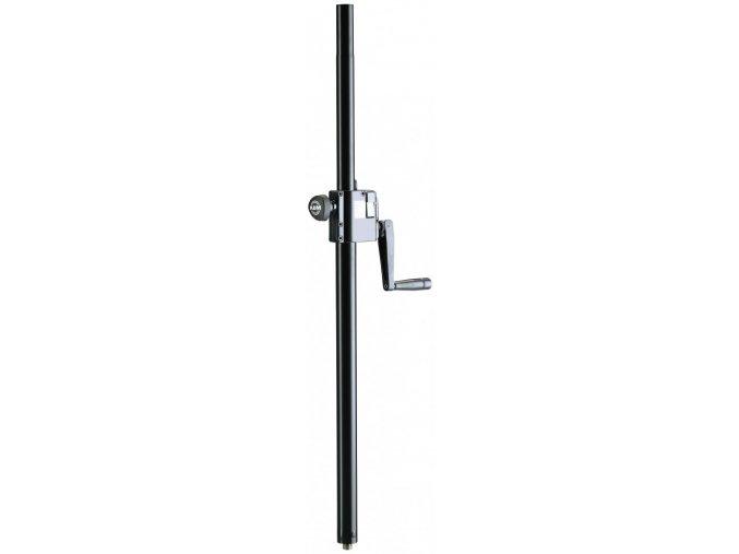 K&M 21339 Distance rod with hand crank black