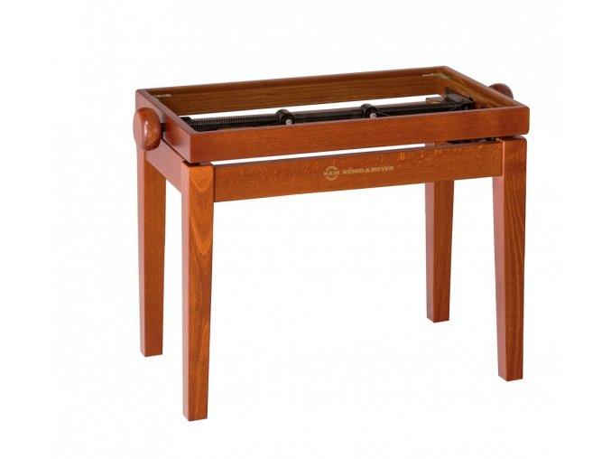 K&M 13740 Piano bench - wooden-frame cherry matt finish