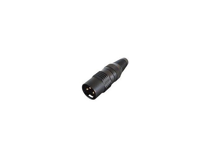 SOMMER HICON-XLR Kabel-Stecker 3-pol schwarz