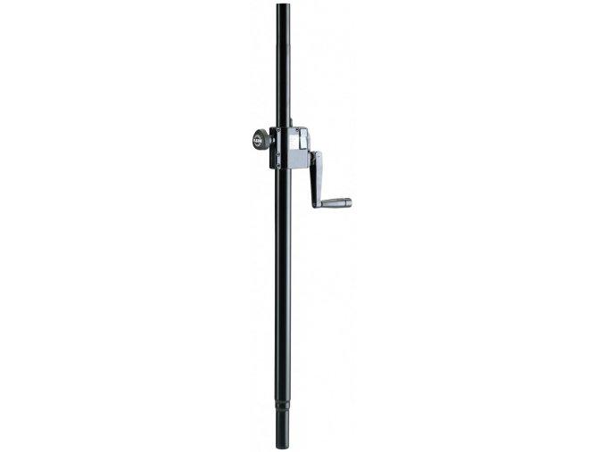 K&M 21338 Distance rod with hand crank black