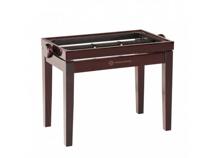 K&M 13751 Piano bench - wooden-frame mahogany glossy finish