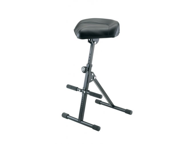 K&M 14047 Pneumatic stool black leather
