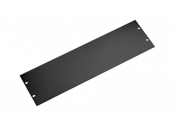 K&M 28240 Panel black, 4 spaces, 0,48 kg
