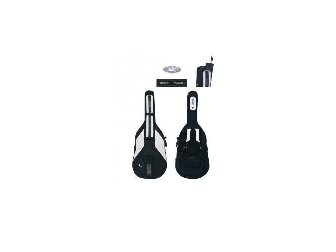 GEWA Double bass gig-bag JAEGER 3/4 black/anthracite