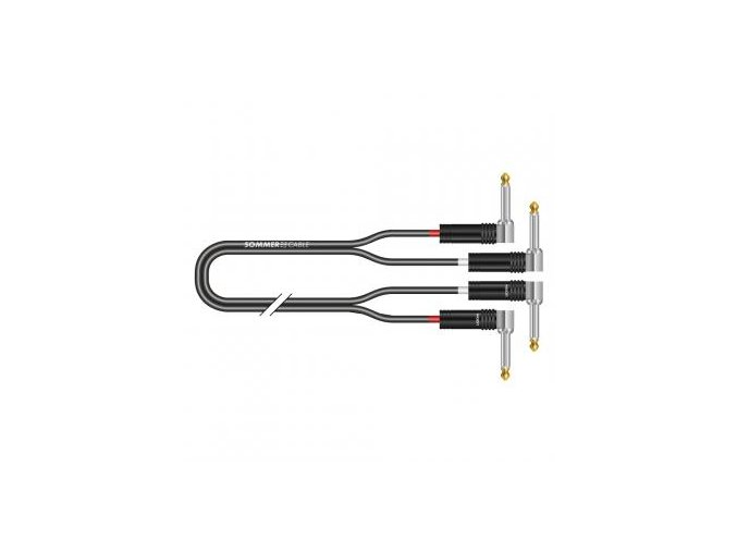 Sommer Cable IC Onyx 2x0,25qmm, Black, 0,90m