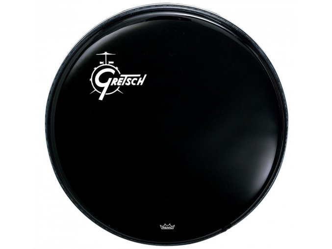 "Gretsch Logo Bass Drum Reso 22"" Ebony, Offset Logo G5526ELO"