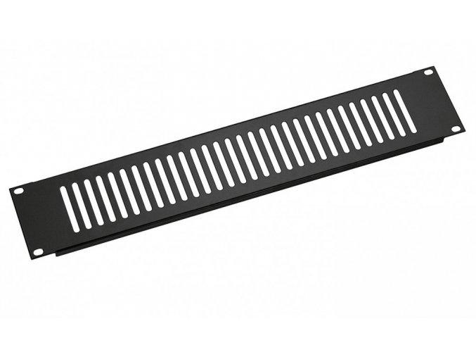 K&M 28452 Ventilation panel black, 2 spaces, 0,46 kg