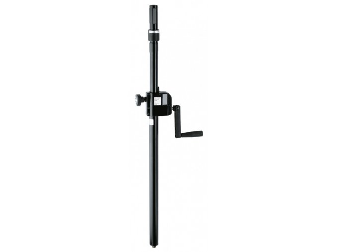 K&M 21340 Distance rod with hand crank and »Ring Lock« black