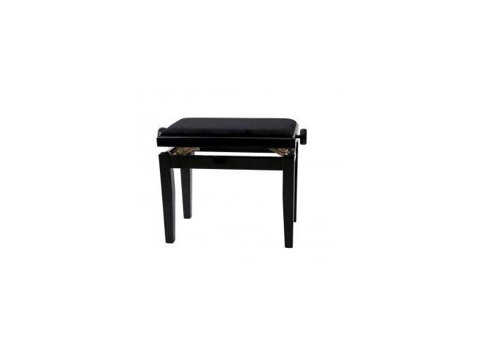 GEWA Piano bench GEWA Piano Deluxe Black high gloss Black cover