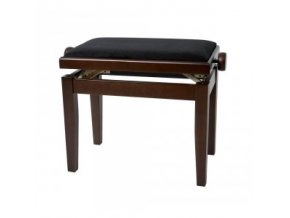 GEWA Piano bench GEWA Piano Deluxe Walnut matt Black cover