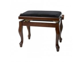 GEWA Piano bench GEWA Piano Deluxe Classic Walnut matt Black cover