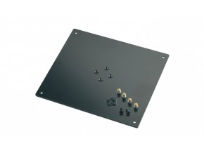 K&M 26792 Bearing plate structured black, 320 x 5 x 280 mm, 3,4 kg