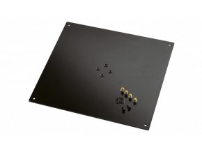 K&M 26792 Bearing plate structured black, 420 x 5 x 380 mm, 6,0 kg