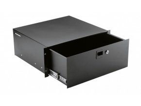 K&M 491/2 Rackmount storage black, 4 spaces, 8,94 kg
