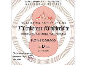 Nurnberger Strings For Double Bass Kuenstler orchestra tuning 3/4