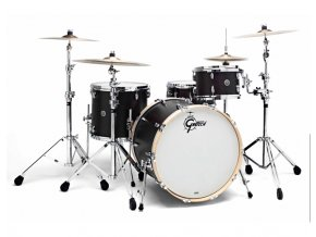 Gretsch Shellpack Brooklyn Series 8x12TT/16x16FT/18x22BD Dark Ebony