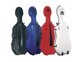GEWA Cases Cello case Idea Evolution Rolly highgloss White/red