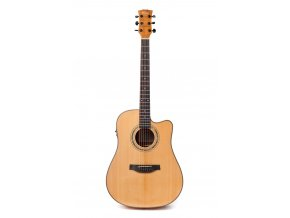 KLEMA dreadnought-solid cedar top-electronics