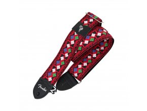 "Fender Eric Johnson ""Rat Pack"" Signature Strap, Red with Multi Color Pattern"