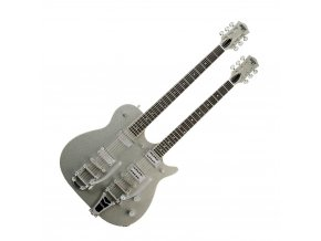 Gretsch G5265 Electromatic Jet Double Neck with Bigsby, Silver Sparkle