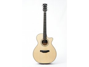 KLEMA grand concert -solid alpine spruce top-cutaway -electronics