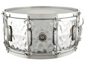 "Gretsch Snare Brooklyn Series GB4000 Metal, 6,5x14"" Hammered Chrome Over Brass Shell"