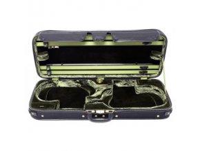 GEWA Violin double case JAEGER PRESTIGE Exterior brown