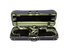 GEWA Violin double case JAEGER PRESTIGE Outside brown with carbon optic