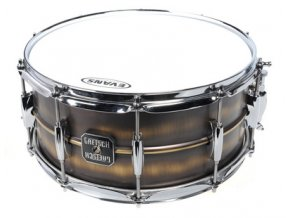 "GRETSCH DRUMS 14"" x 6.5""; Snare Drum; 1.0mm Brushed Brass Shell; 10-Lug"