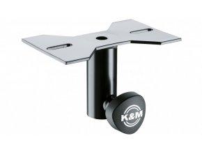 K&M 195/8 Mounting adapter black