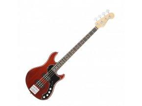 Fender American Elite Dimension Bass IV HH, Rosewood Fingerboard, Cayenne Burst